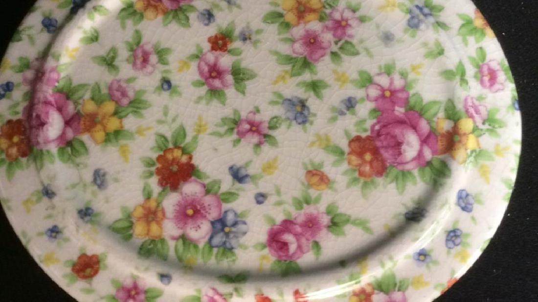 Group English Chintz Porcelain Tabletop - 6