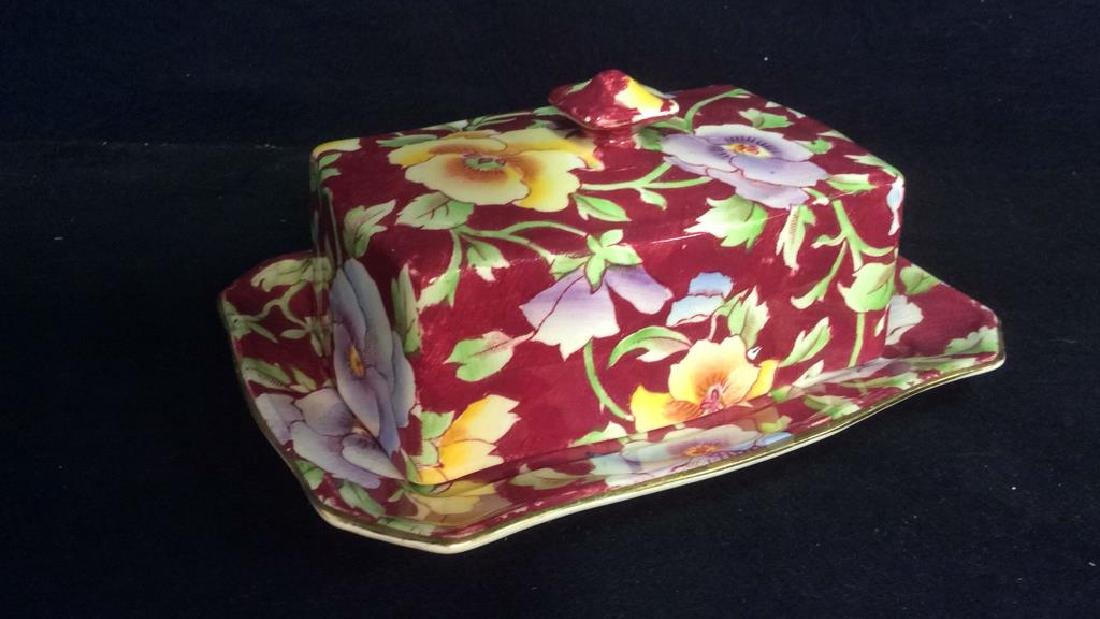 Group English Chintz Porcelain Tabletop - 7