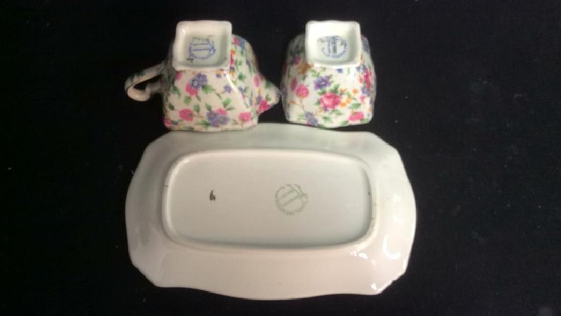 Vintage English Chintz Porcelain Sugar Creamer - 10