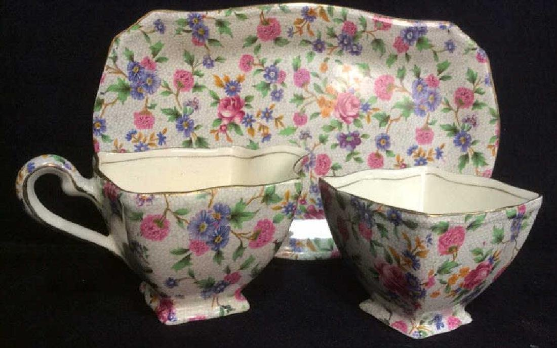 Vintage English Chintz Porcelain Sugar Creamer