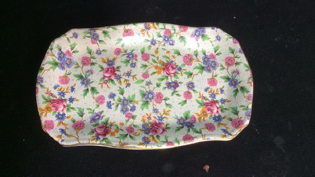 Vintage English Chintz Porcelain Sugar Creamer - 4