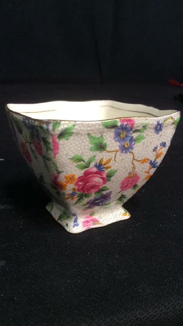 Vintage English Chintz Porcelain Sugar Creamer - 5