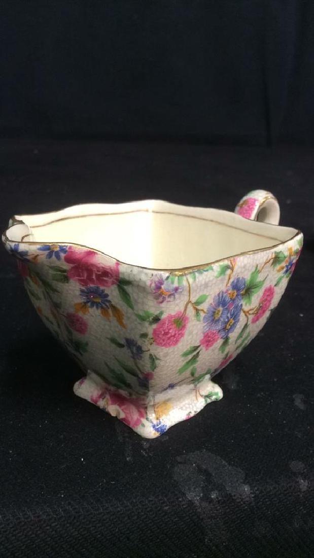 Vintage English Chintz Porcelain Sugar Creamer - 8