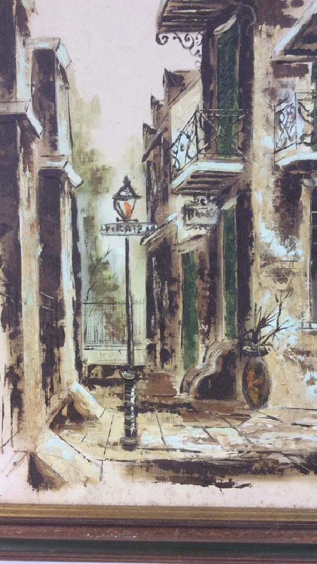 Vintage Signed Street Scene Painting - 4