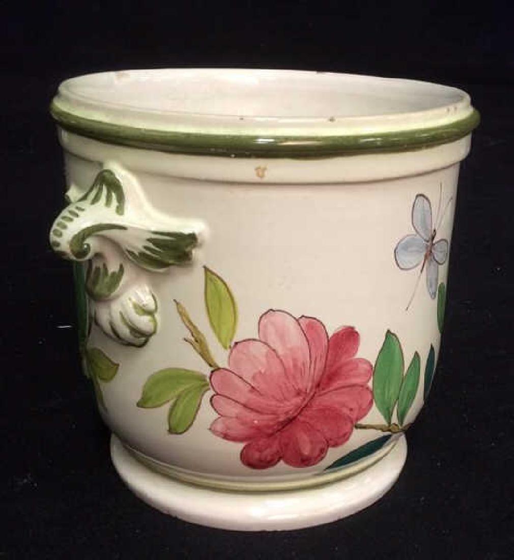 Italian Hand Painted Ceramic Cache Pot - 2