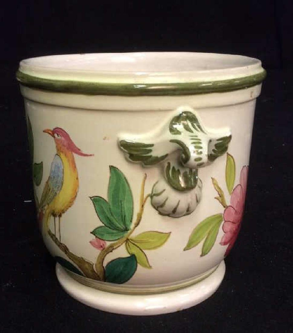 Italian Hand Painted Ceramic Cache Pot - 3