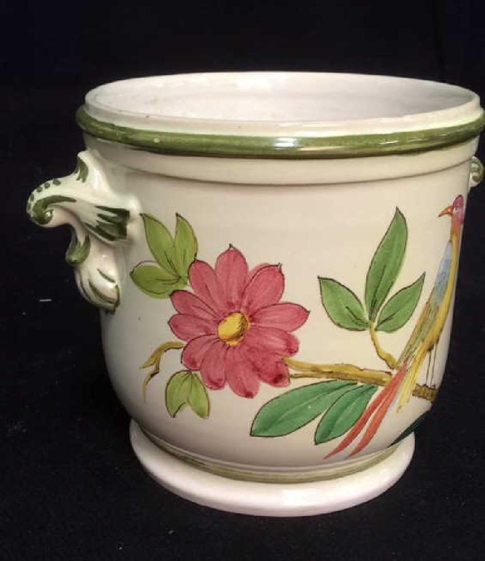 Italian Hand Painted Ceramic Cache Pot - 5