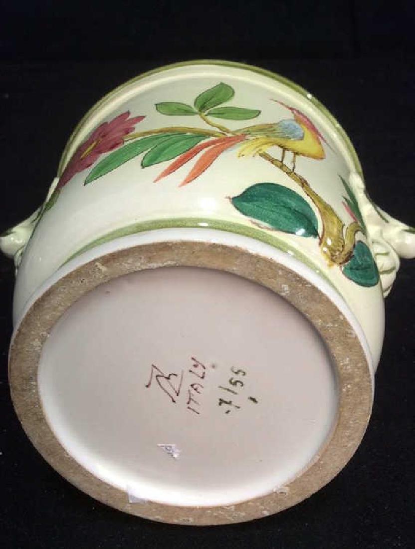 Italian Hand Painted Ceramic Cache Pot - 8
