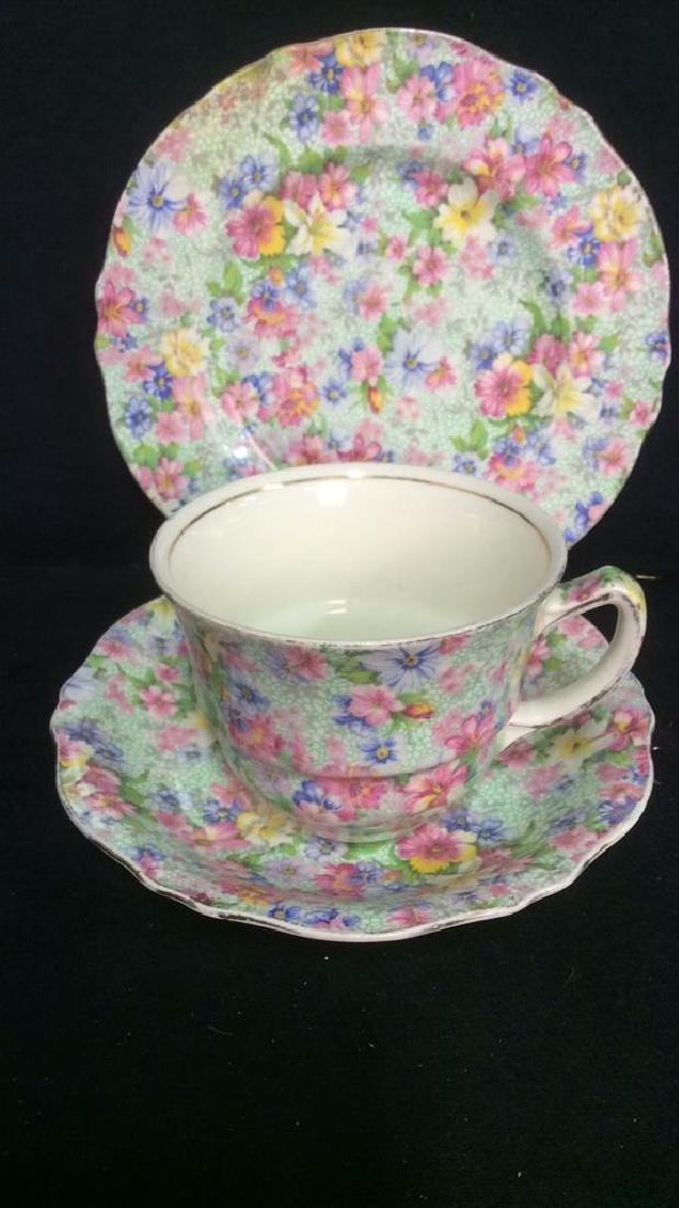 Group Lot English Chintz Porcelain Table top - 2