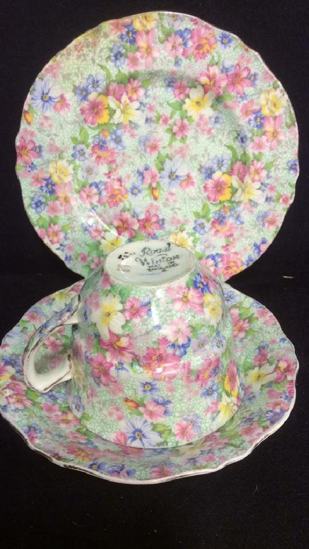 Group Lot English Chintz Porcelain Table top - 3