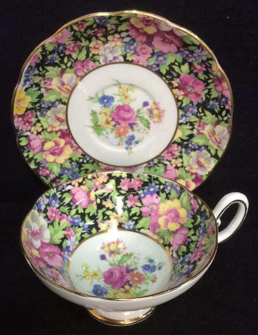 Group Lot English Chintz Porcelain Table top - 5