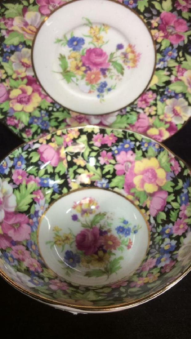 Group Lot English Chintz Porcelain Table top - 6