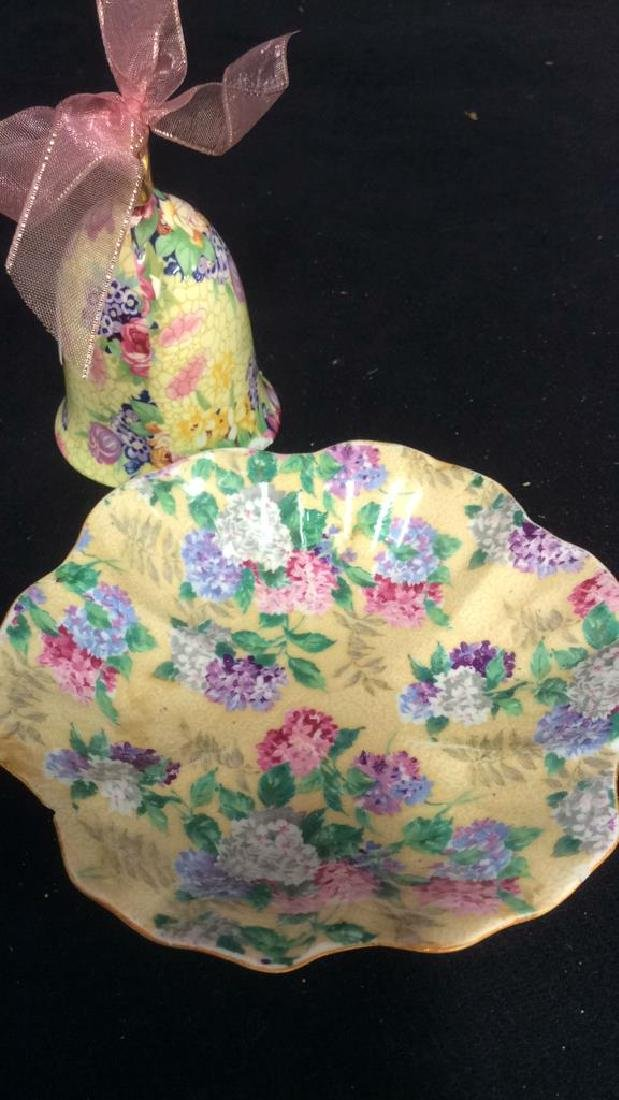 Group Lot English Chintz Porcelain Table top - 8