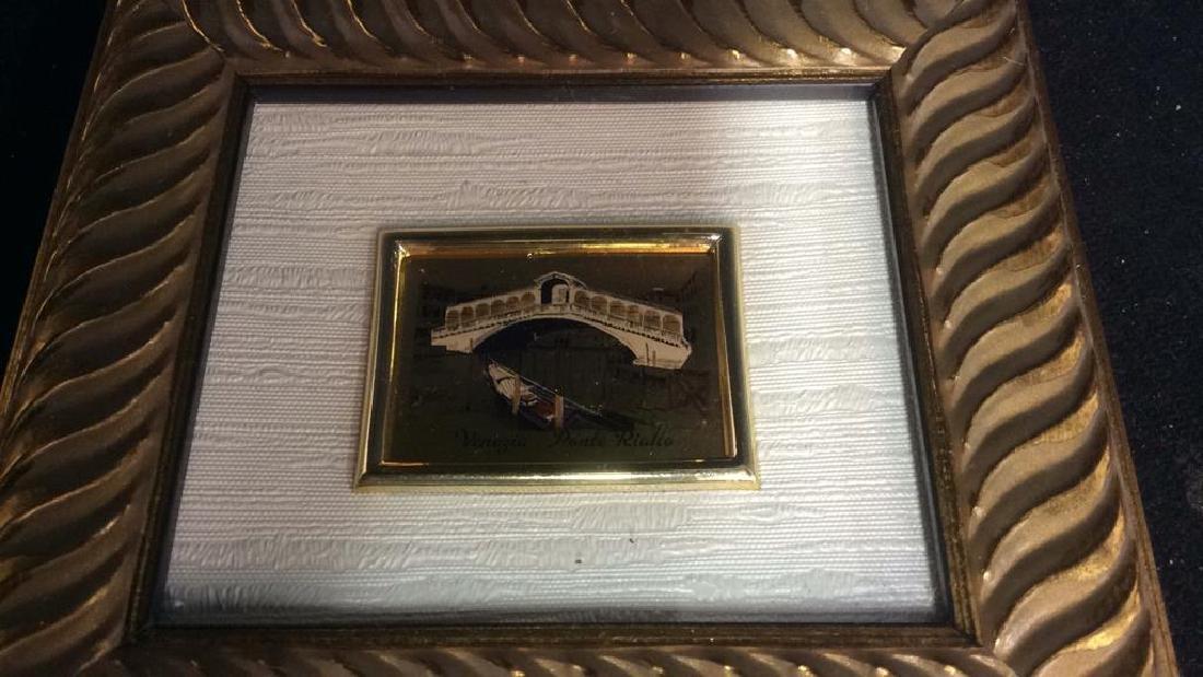 2 Miniature Carved Gold Leafed Framed Prints - 8
