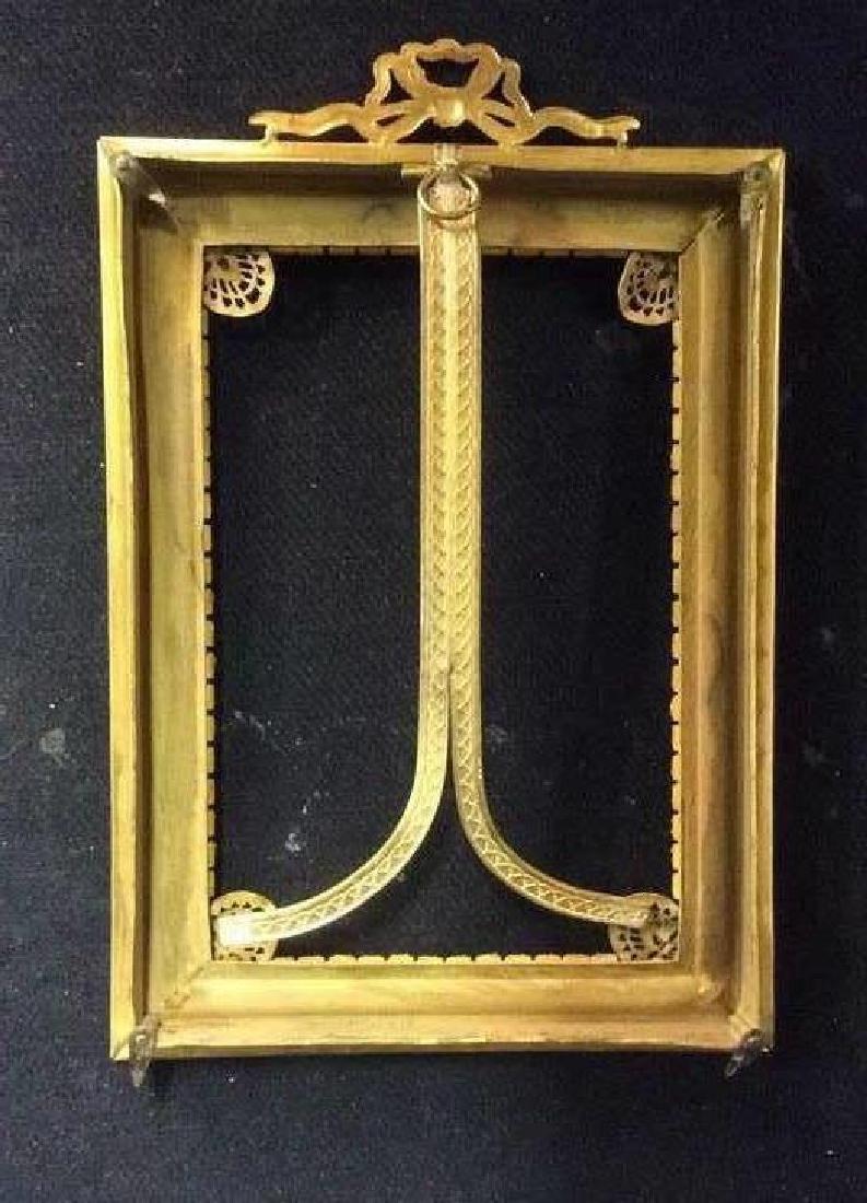 Antique Gilded teal Picture Frame, gilded metal, - 8
