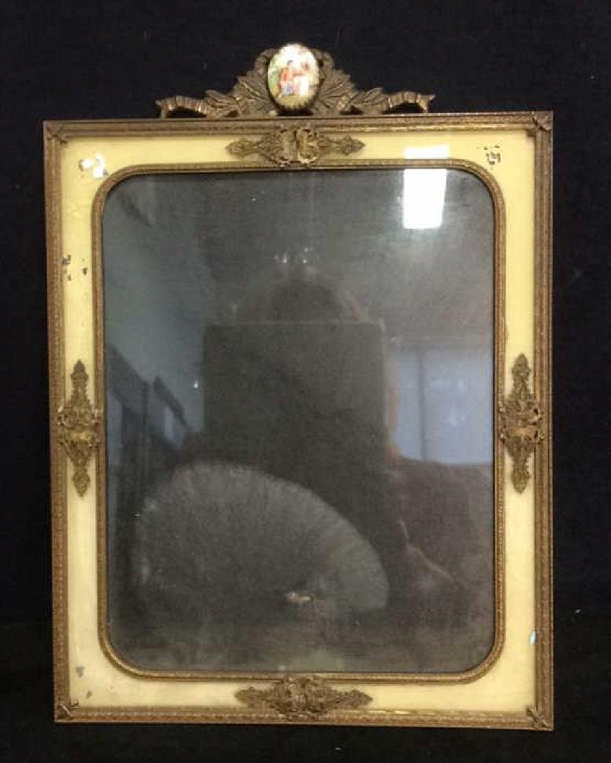 Antique Victorian Painted Gilded Picture Frame