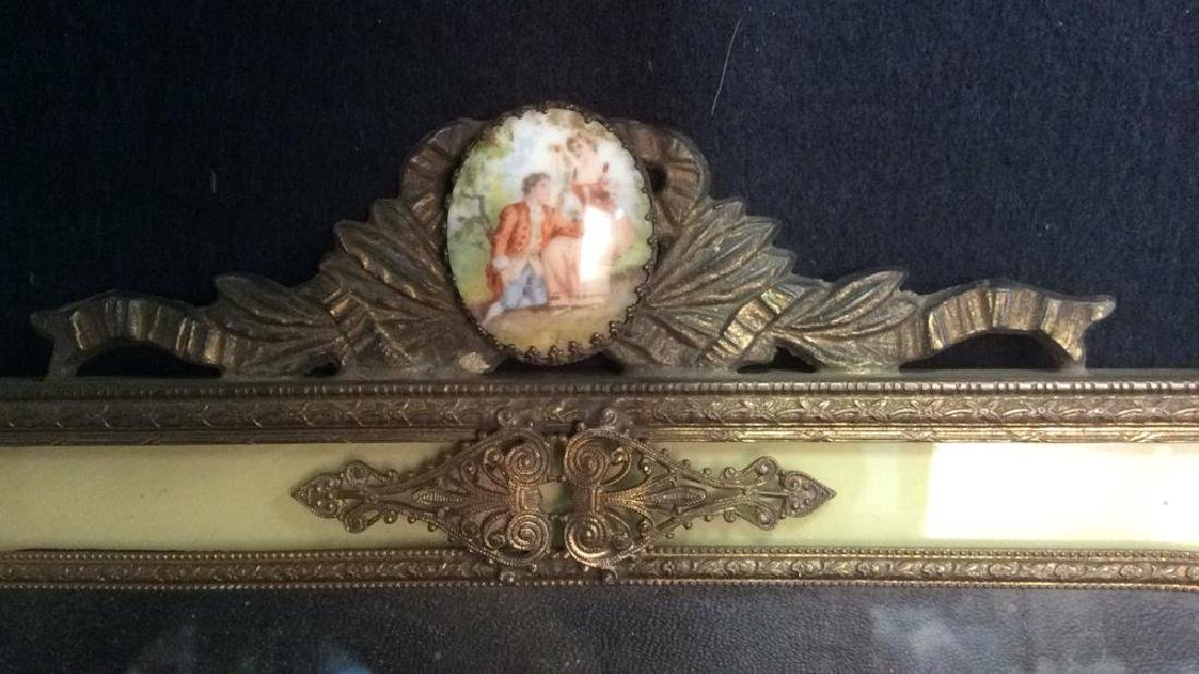 Antique Victorian Painted Gilded Picture Frame - 5