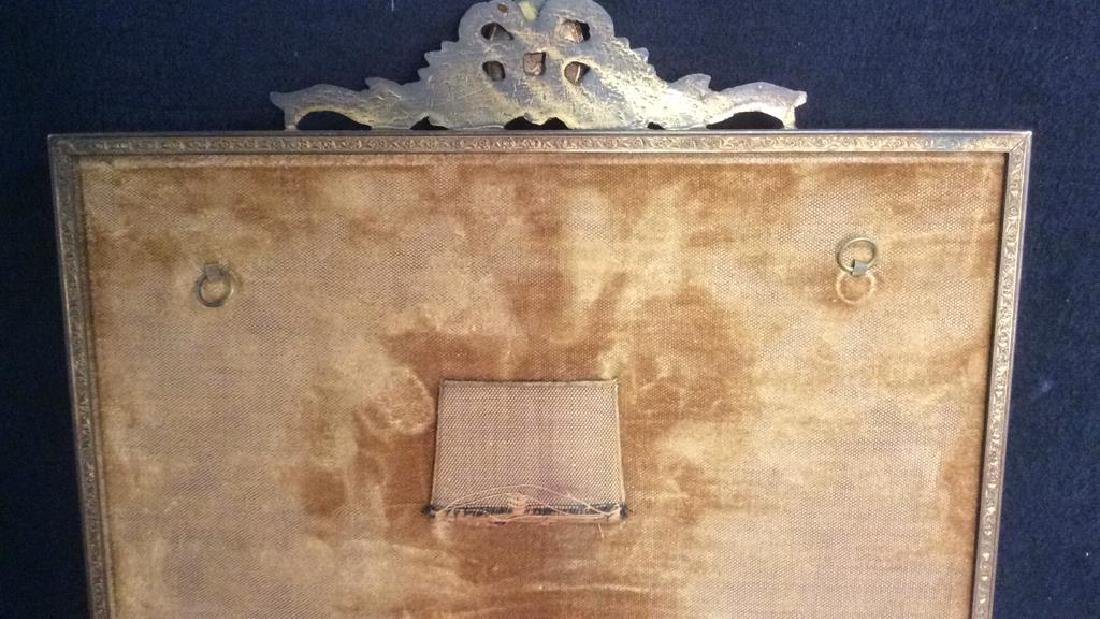 Antique Victorian Painted Gilded Picture Frame - 8