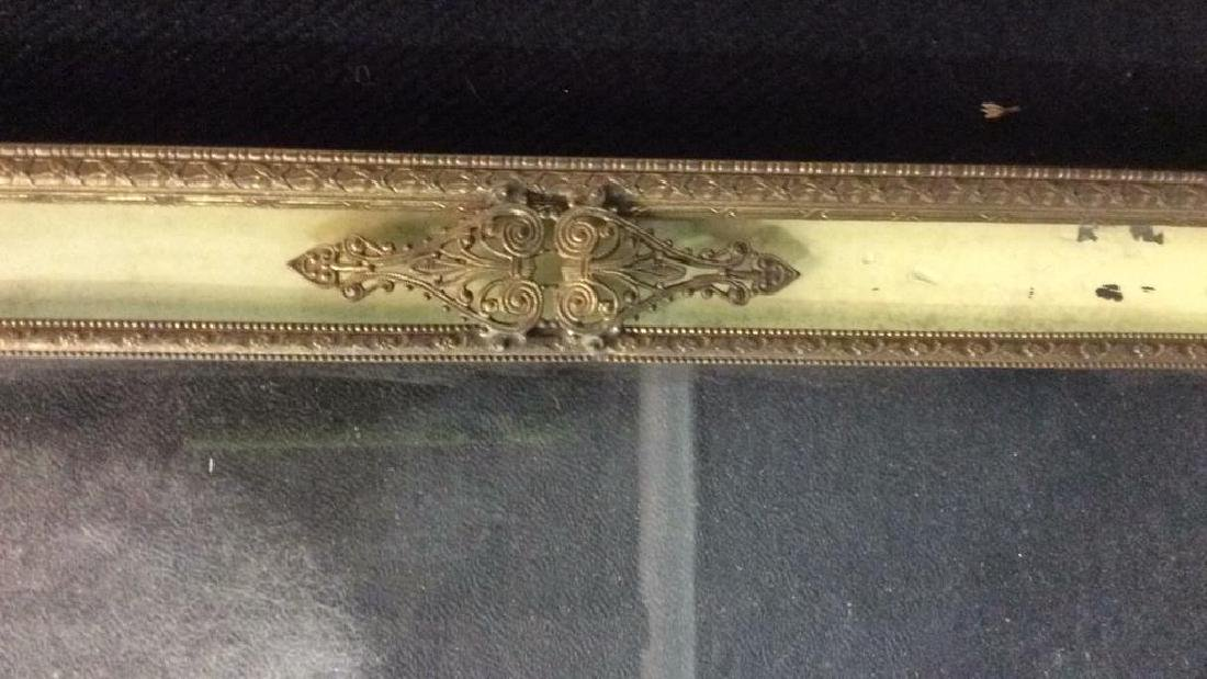 Antique Victorian Painted Gilded Picture Frame - 9