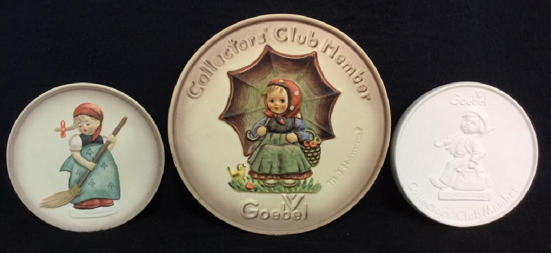 Lot 3 Goebel Hummel Collectible Plaques