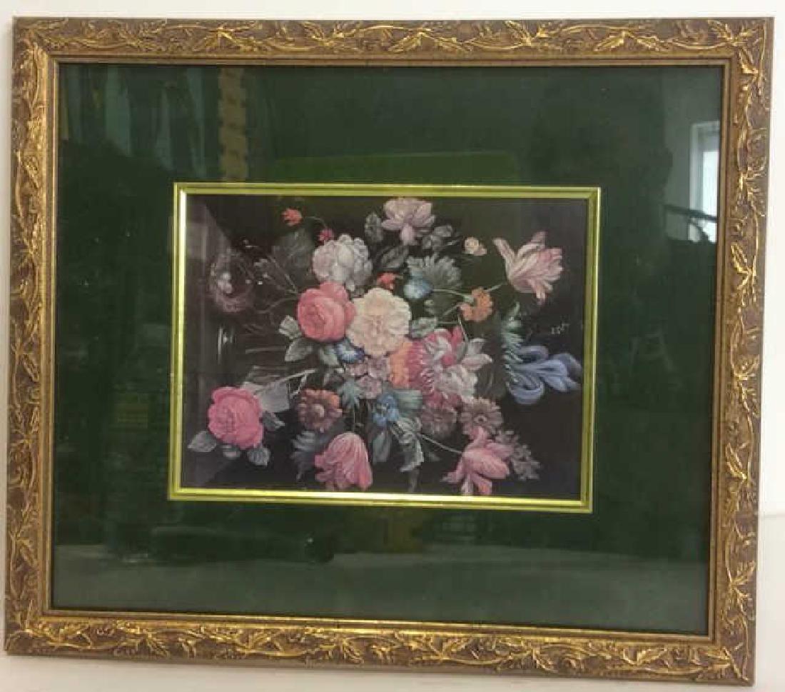 Framed and Matted Botanical Print