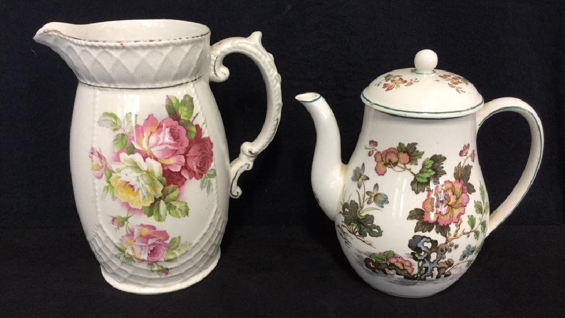 Lot 2 Wedgwood Teapot And Grimwades Pitcher