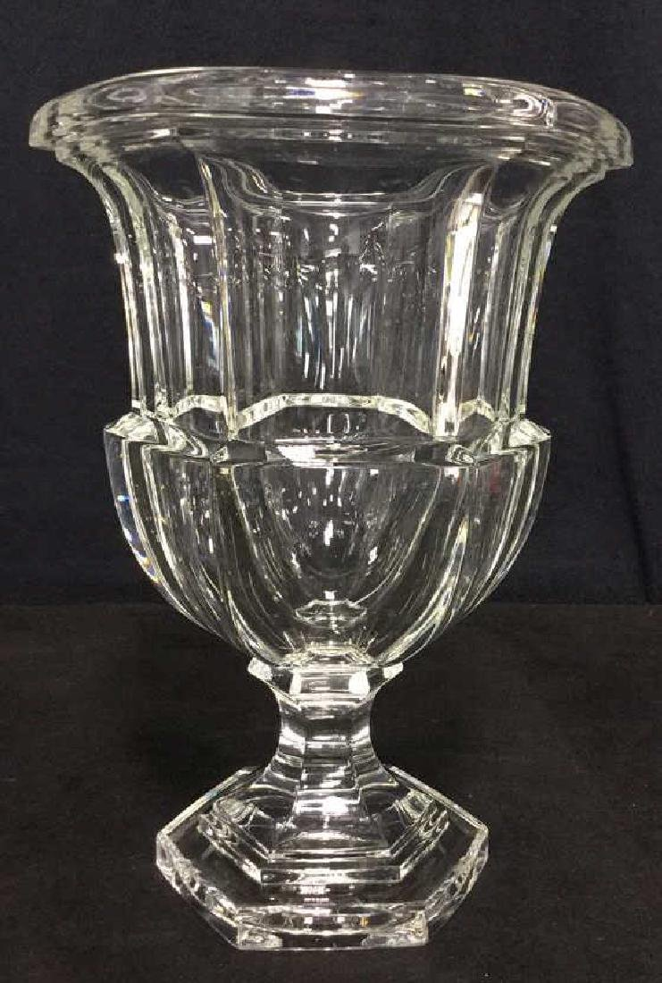Heavy Crystal Vase With Footed Base