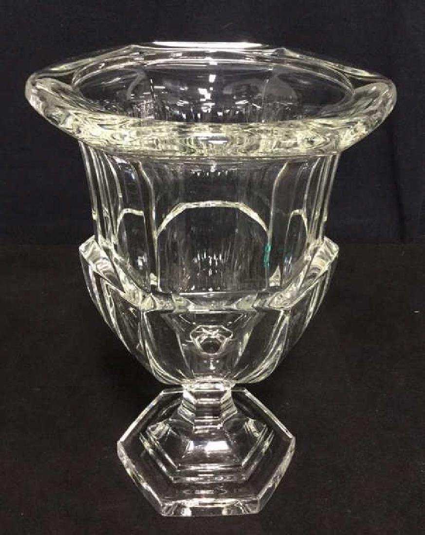 Heavy Crystal Vase With Footed Base - 2
