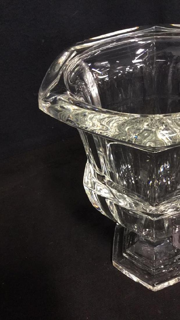 Heavy Crystal Vase With Footed Base - 5