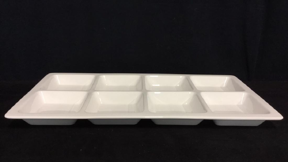 White Rectangular Ceramic Serving Dish - 3