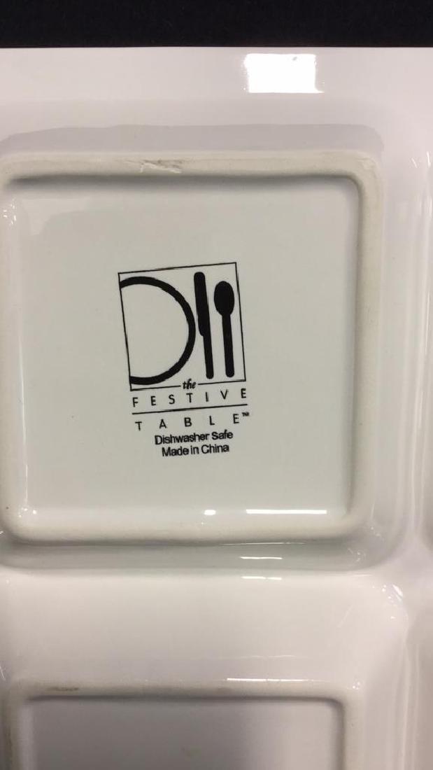 White Rectangular Ceramic Serving Dish - 4