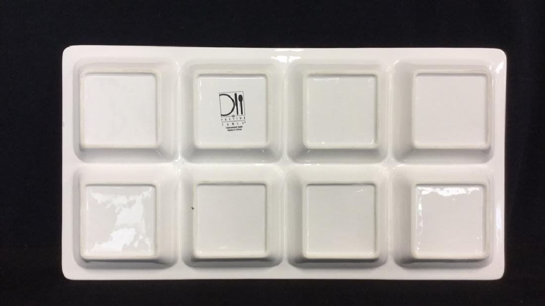 White Rectangular Ceramic Serving Dish - 5