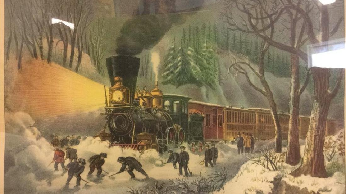 Framed AMERICAN RAILROAD SCENE