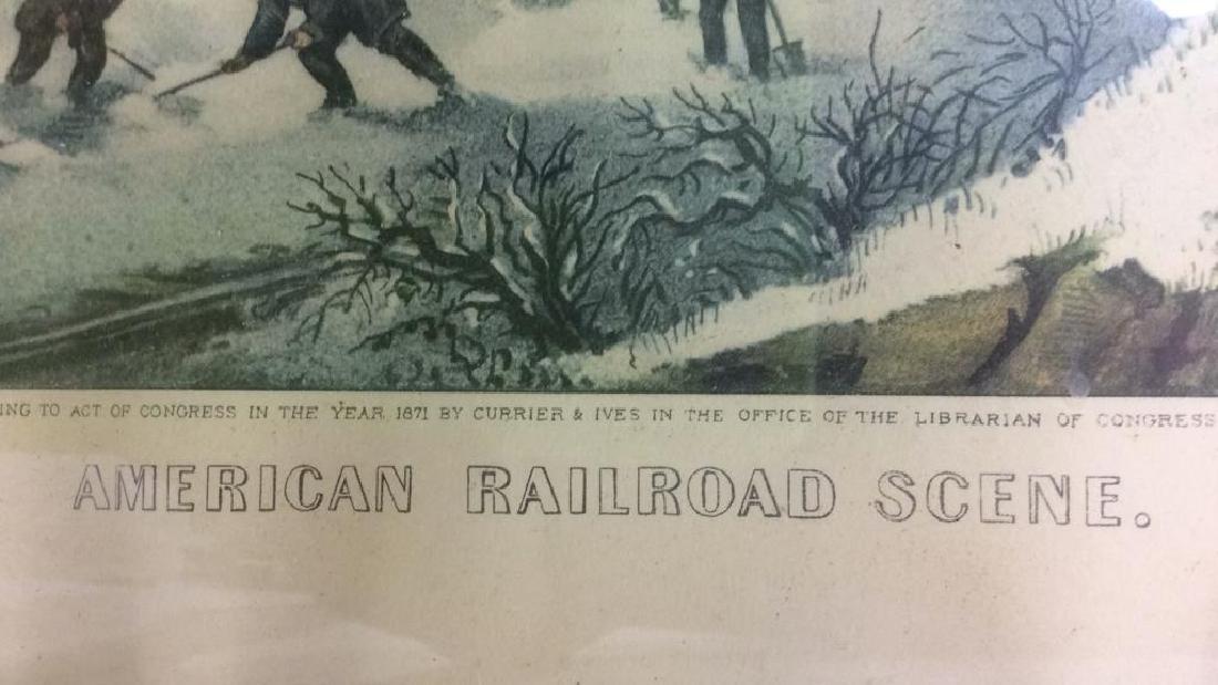 Framed AMERICAN RAILROAD SCENE - 7