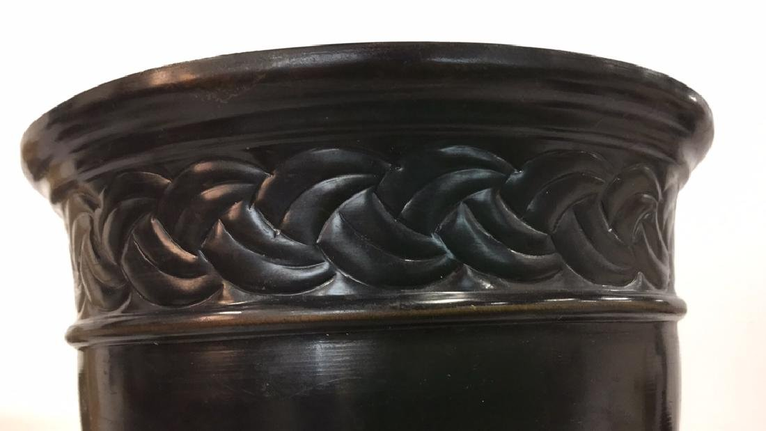 Lot 4 Metal Planter Pots With Repousse Design - 8