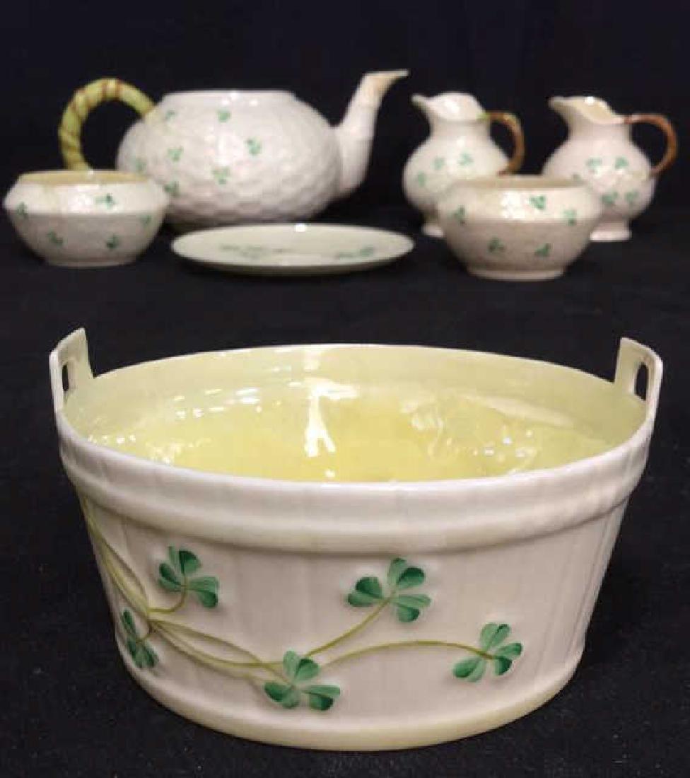 Lot 7 Belleek Irish Porcelain Ceramic - 2