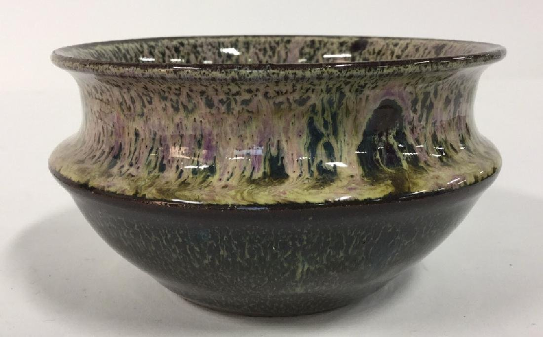 Hand Formed And Glazed Pottery Bowl - 2