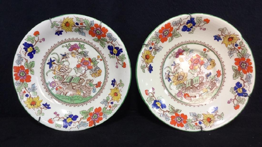 Pair Of Hand Painted Mason's Ironstone Plates