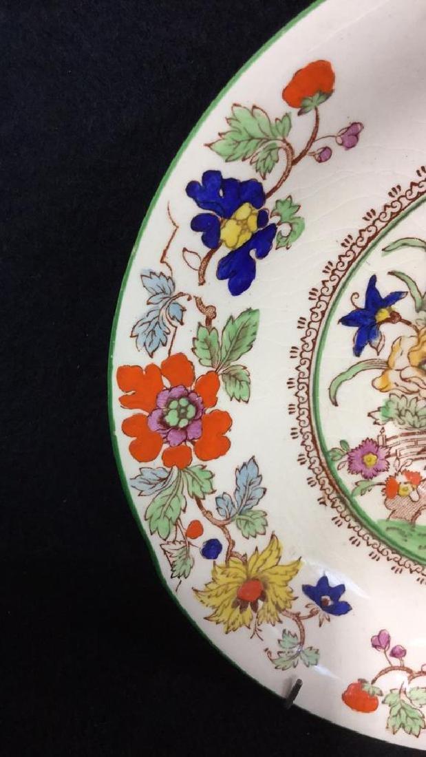 Pair Of Hand Painted Mason's Ironstone Plates - 3