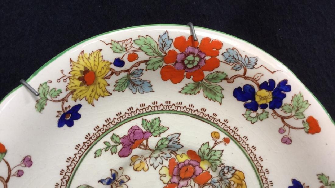 Pair Of Hand Painted Mason's Ironstone Plates - 4