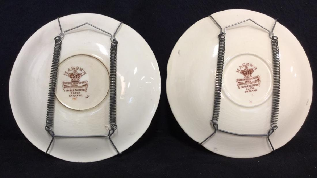Pair Of Hand Painted Mason's Ironstone Plates - 5