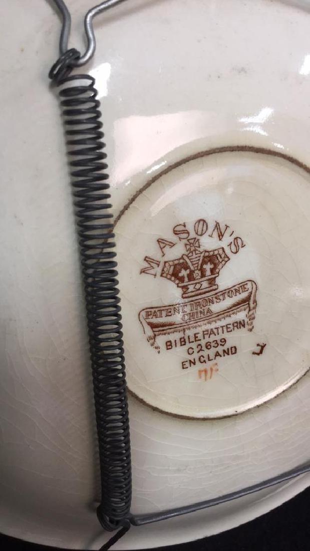 Pair Of Hand Painted Mason's Ironstone Plates - 7