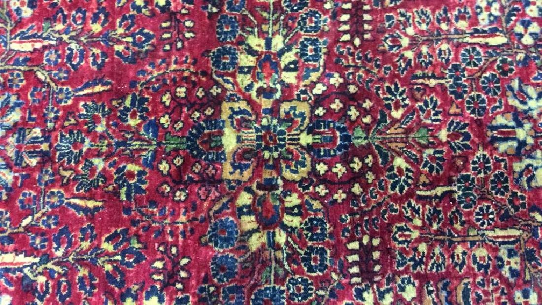 Handmade Intricately Detailed Wool Rug - 2