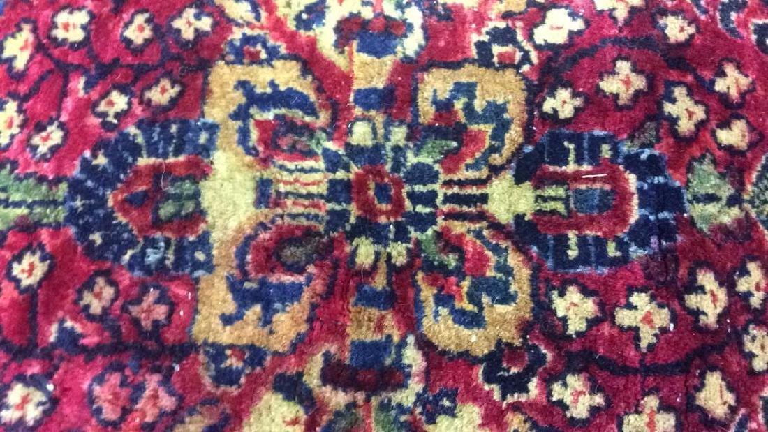 Handmade Intricately Detailed Wool Rug - 3