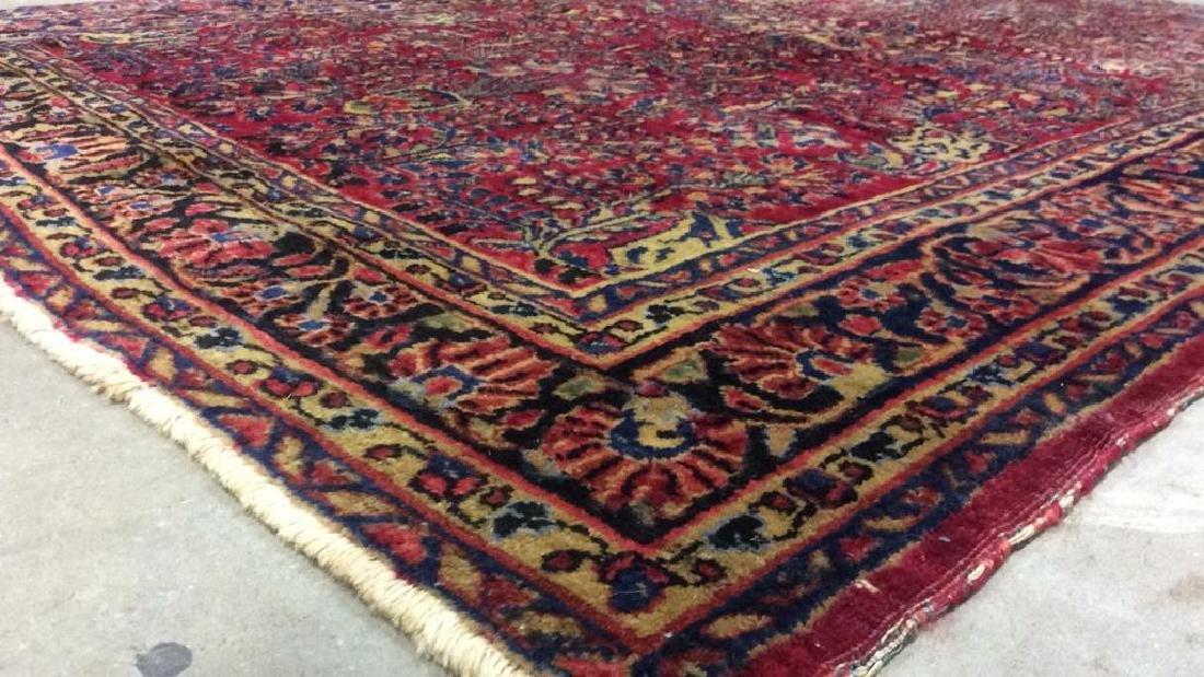 Handmade Intricately Detailed Wool Rug - 8