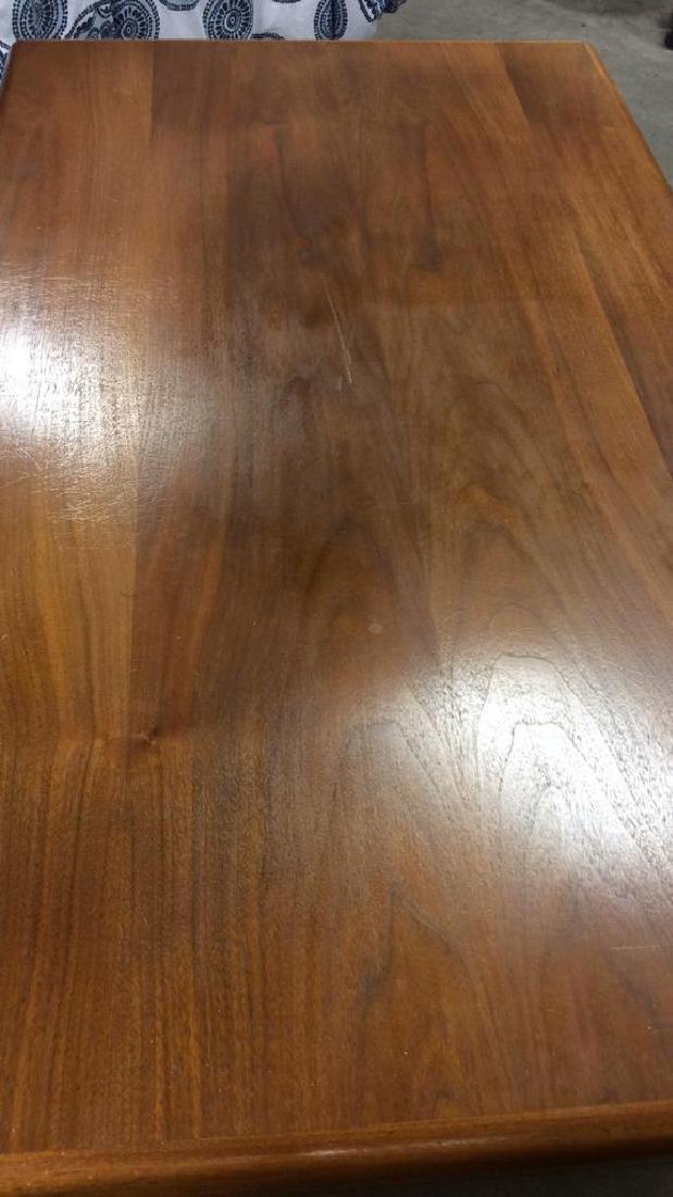 Mid Century Modern Wood Brass Footed Desk - 9