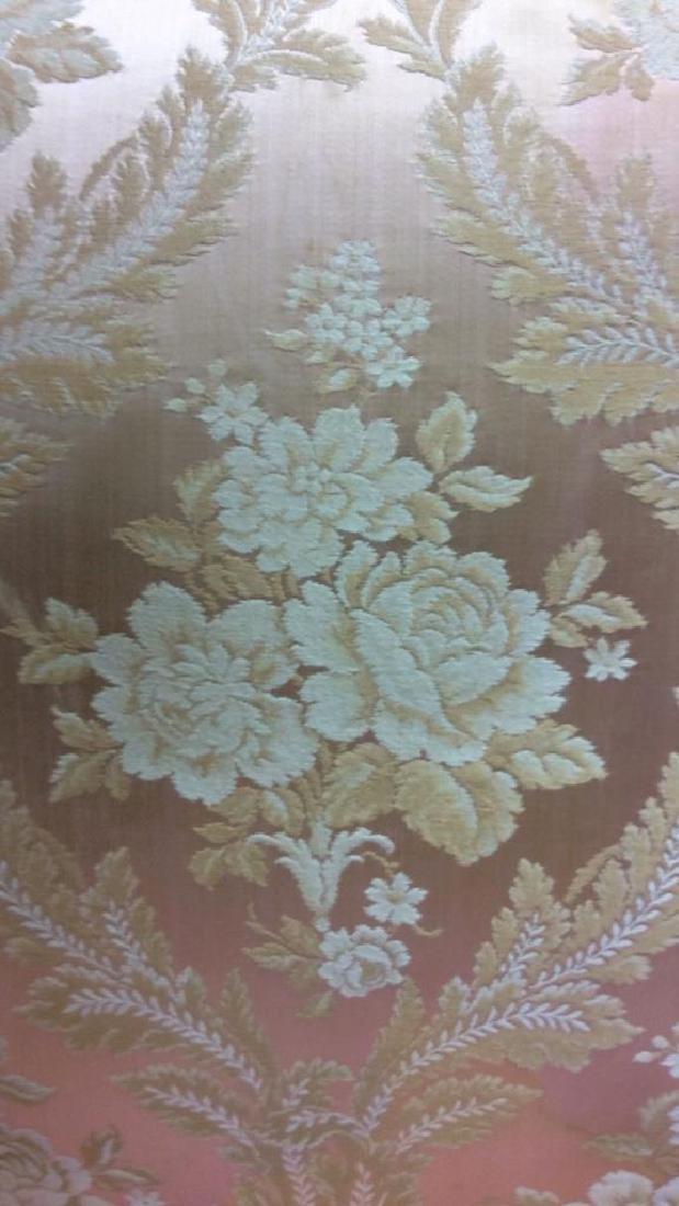Vintage Floral Detailed Upholstered Gold Armchair - 10