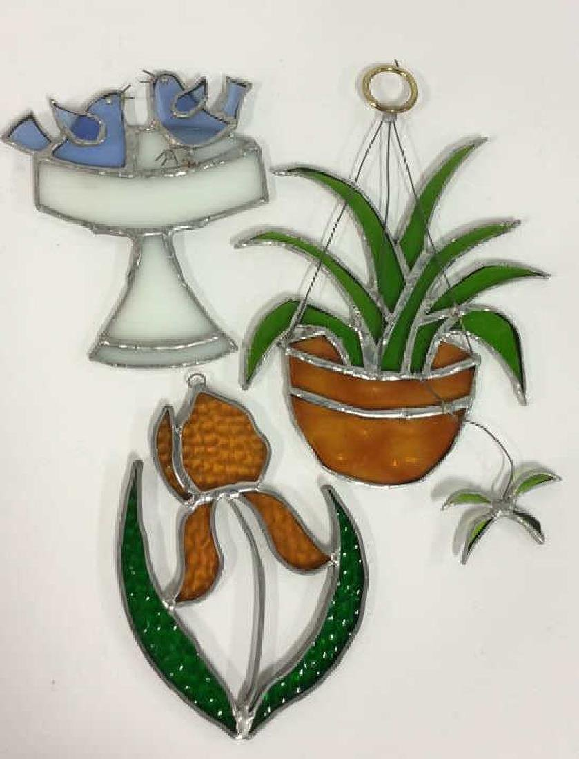 Lot 3 Stained Glass Wall Hangings Sun Catchers