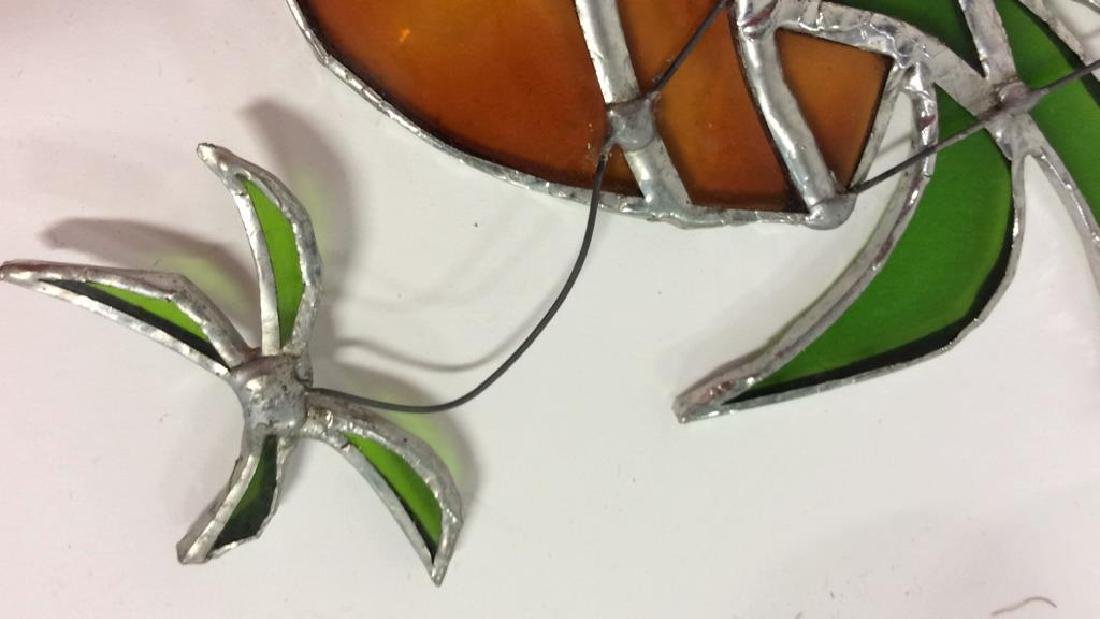 Lot 3 Stained Glass Wall Hangings Sun Catchers - 4