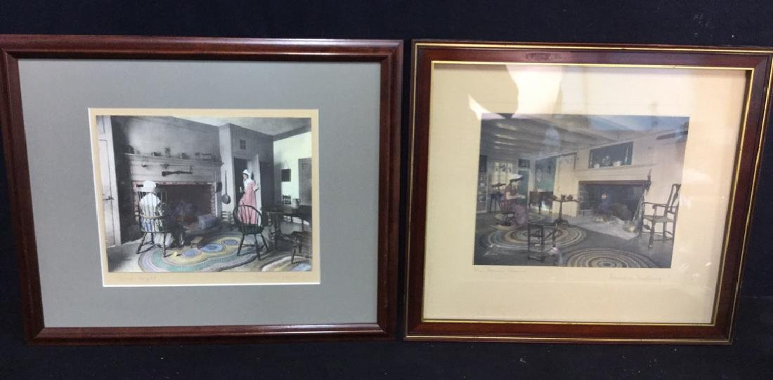 Pair Of Wallace Nutting Hand Colored Prints